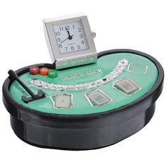 """Часы настольные """"Покер"""", цвет: черный, зеленый. 22408 Win Max"""