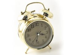"""Часы настольные """"Эврика"""", цвет: золотистый, диаметр 10 см"""