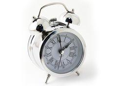 """Часы настольные """"Эврика"""", цвет: хром, диаметр 7 см"""