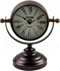 "Часы настольные Miralight ""Copper"", на подставке, цвет: темная медь"