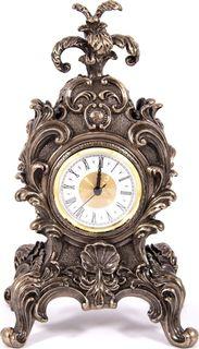 """Часы настольные Русские Подарки """"Барокко"""", 227611, бронза, 19 х 15 х 32 см"""