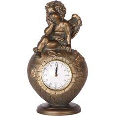 Настольные часы aim Часы Ангел на сердце, бронза