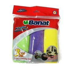 Салфетка Banat Уборка, зеленый, фиолетовый, желтый