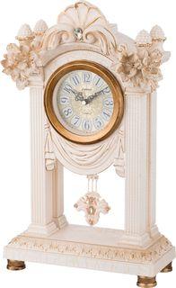 Настольные часы Lefard Белые цветы, кварцевые, 204-124, 45,5 х 26,5 х 12 см