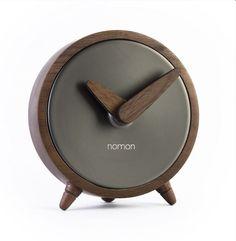 Настольные часы Nomon Atomo, Graphite, темно-серый