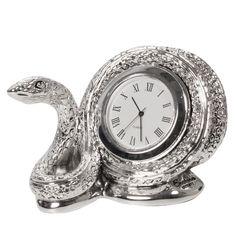 Настольные часы Exetera argenti Умная змейка, 46-408651, серебристый