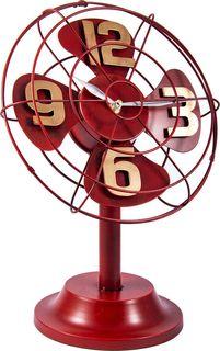 """Настольные часы Русские подарки """"Ретро вентилятор"""", 60632, коричневый"""