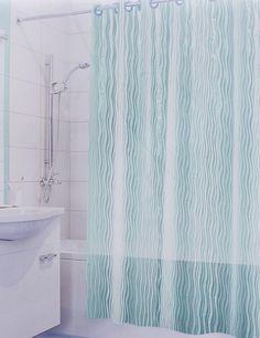 """Штора для ванной 3D Valiant """"Волна"""", цвет: зеленый, 180 х 180 см"""