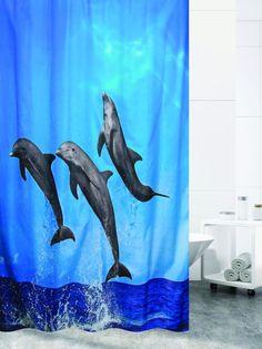 Штора для ванной BATH PLUS Dolfin Contest, синий