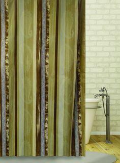 Штора для ванной BATH PLUS Caterpillar, коричневый