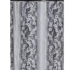 Штора для ванной Creative Bath Blossoms, белый, черный, серый