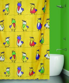 Штора для ванной BATH PLUS JIJI, желтый