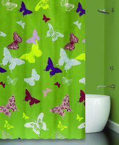 Штора для ванной BATH PLUS Splendour, зеленый, разноцветный