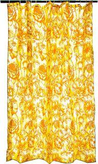 Штора для ванной Vetta Бежевые цветы, 461-433, желтый, 180 х 180 см