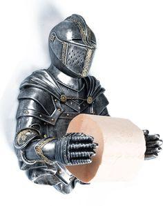 """Держатель для туалетной бумаги Хорошие сувениры """"Рыцарь"""", 3928123, серебристый"""