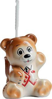 """Подставка под ёрш Хорошие сувениры """"Мишка"""", с подставкой, 1802465, коричневый"""