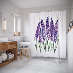 """Штора (занавеска) для ванной """"Природная симметрия"""" из ткани, 180х200 см с крючками Joy Arty"""
