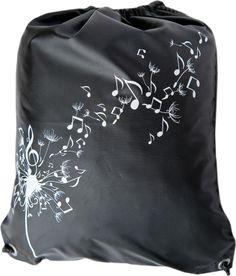 """Мешок для обуви """"Музыка"""", цвет: черный, 35 х 44 см"""