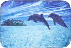 """Коврик для ванной Доляна """"Дельфины"""", 3782411, разноцветный, 60 х 40 см"""