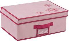 "Кофр на липучке Handy Home ""Хризантема"", цвет: бордовый, розовый, 40 х 30 х 16 см"