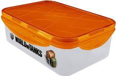 Контейнер для продуктов Blocker World of Tanks, BR5020ПР, прозрачный, 19 х 13,3 х 6,7 см
