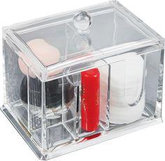 Контейнер для мелочей, 3953749, прозрачный, 14 х 10 х 13 см