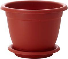 """Горшок для цветов InGreen """"Борнео"""", с поддоном, цвет: терракотовый, диаметр 17 см"""