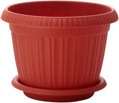 """Горшок для цветов InGreen """"Таити"""", с подставкой, цвет: терракотовый, диаметр 23 см"""