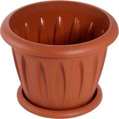 """Горшок для цветов Martika """"Фелиция"""", с поддоном, цвет: терракотовый, 10,4 л"""
