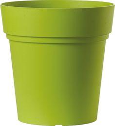 """Горшок для цветов Deroma """"Самба"""", цвет: зеленый, диаметр 30 см"""