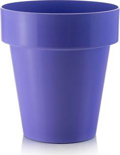 """Горшок для цветов Teraplast """"Порто"""", цвет: фиолетовый, диаметр 14 см"""