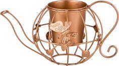 "Кашпо Lefard ""Чайник"", цвет: бронзовый, 20 х 33 х 17 см"