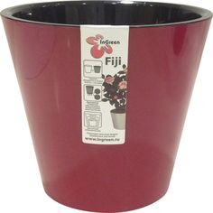"""Горшок для цветов InGreen """"Фиджи"""", цвет: рубин, D 230 мм, объем 5 л"""