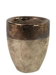 Кашпо/горшок RICH LINE Home Decor Каштан, 764240, коричневый
