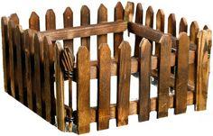 Кашпо Заборчик, 1303556, коричневый, 27 х 4 х 15 см