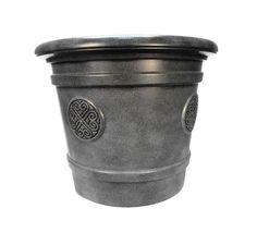 Горшок для цветов ТЕК.А.ТЕК Горшок-кашпо для цветов Medallion диаметр 50 см 40 л. Е81-8 Графит, черно-серый