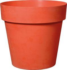 Горшок для цветов Deroma Лайк, 9DP2ZPZ010, мандарин, 18 х 18 х 16,5 см