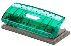 Office Force Stationery Дырокол Mini Transparent, цвет зеленый, металлическая основа, 6 листов, 2 отверстия