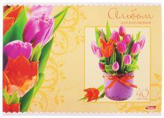 Hatber Альбом для рисования Тюльпаны цвет бежевый 40 листов