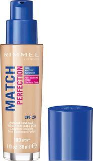 Тональный крем Rimmel Match Perfection, тон 100, 30 мл