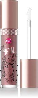 Помада жидкая с эффектом металлик Bell Liquid Metal Lipstick, тон №04