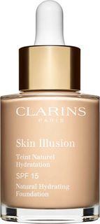 Тональный крем Clarins Skin Illusion, увлажняющий, с легким покрытием, SPF 15, тон № 103, 30 мл