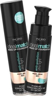 Тональный крем Ingrid Ideal Match, тон 401, кремово бежевый