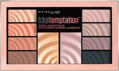 """Maybelline New York Палетка теней и хайлайтеров """"Temptation"""", 10 оттенков, 9,6 г"""