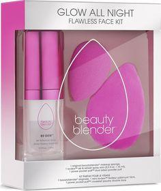 Набор для макияжа Beautyblender Glow All Night, розовый, 3 предмета