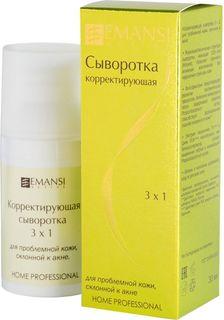 Emansi Корректирующая сыворотка 3 х 1 для проблемной кожи, склонной к акне Emansi active, 30 мл