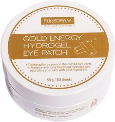 """Purederm Патчи гидрогелевые для области вокруг глаз """"Энергия Золота"""", 60 шт, 84 г"""