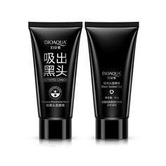 Bioaqua маска-пленка для лица на основе бамбукового угля против черных точек и акне, 60 гр.