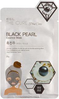 Маска косметическая Korea The Cure Plus Care, для лица, ухаживающая, с жемчугом, 25 г