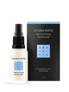 Флюид для лица BEAUTIFIC Hydra Mate Легкий увлажняющий с гиалуроновой кислотой и скваланом